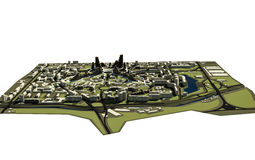 3D stad Royalty-vrije Stock Afbeelding