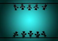 3d stadium de lichten geven terug stock foto