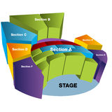 3D Stadium Seating Chart Royalty Free Stock Image