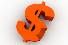 3d stage in shape of dollar symbol concept Stock Photography