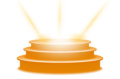 3d staircase with orange podium vector. Art Royalty Free Illustration