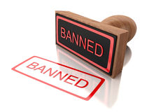 3D stamp banned Stock Photos