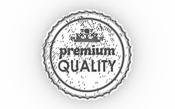 3D stamp icon Royalty Free Stock Photography
