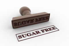 3d stamp sugar free concept Royalty Free Stock Image