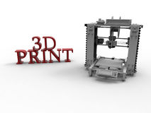 3D stampa - concetto Immagine Stock