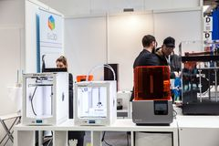3d stampanti Ultimaker iGo3D sulla mostra CeBIT 2017 a Hannover Messe, Germania Immagini Stock