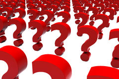 3d Standing Question Marks Royalty Free Stock Photo