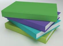 3D stapel boeken Stock Foto's
