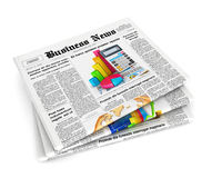 3d stapel kranten stock illustratie