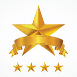 3D star and banner. Stock Photos