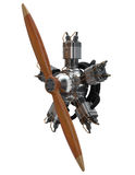 3d star engine wtih old wooden propeller Stock Photography
