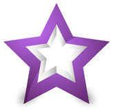 3d star icon / element on white with shadow Royalty Free Stock Image