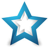 3d star icon / element on white with shadow. Royalty free vector illustration Stock Image