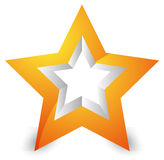 3d star icon / element on white with shadow Stock Photos