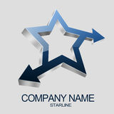 3D Star Logo Stock Photos