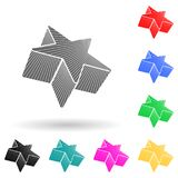 3d star multi color style icon. Simple glyph, flat vector of star icons for ui and ux, website or mobile application
