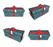 3D star pattern rectangular gift box set. 3D Icon Design Series. Royalty Free Stock Photo