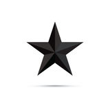 3d star shape icon Royalty Free Stock Photos