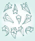 3D Star Sketch Royalty Free Stock Image