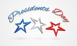 3D stars for American Presidents Day celebration. Stock Photo
