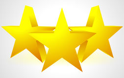 3D Stars Composition. Eps 10 Vector Illustration of 3D Stars Composition royalty free illustration