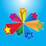 3D stars Stock Image