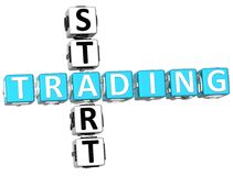 3D Start Trading Crossword Stock Photo