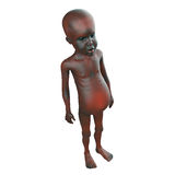 3d Starving African child Stock Photography