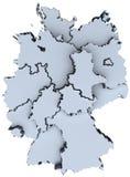 3D staten van de kaartdeutschland van Duitsland de nationale royalty-vrije illustratie