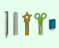 The 3D stationery Royalty Free Stock Images
