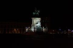 d Statua di Jose I in Praça Comércio a Lisbona fotografia stock