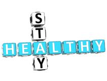 3D Stay Healthy Crossword Royalty Free Stock Images