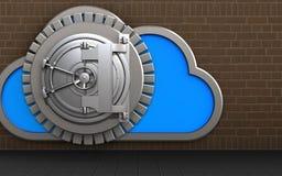 3d steel bank door cloud Stock Images