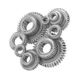3d Steel gears Royalty Free Stock Photo