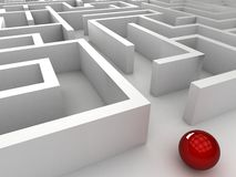 3D steel maze Royalty Free Stock Photography