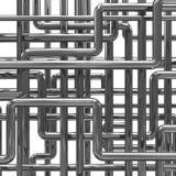 3d Steel pipes arrangement. 3d render of steel pipes background Stock Images