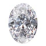 3D steen van de illustratie ovale diamant royalty-vrije stock foto's