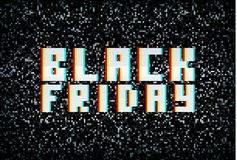 3D stereo effect black friday banner, sale announcement Stock Photo