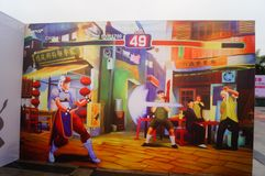 3D stereoscopic painting exhibition, witty and interesting. In Shenzhen, China Stock Photo