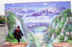 3D stereoscopic painting exhibition, witty and interesting. In Shenzhen, China Stock Photography