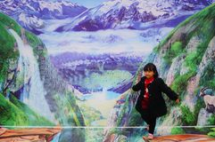3D stereoscopic painting exhibition, witty and interesting. In Shenzhen, China Stock Image