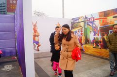 3D stereoscopic painting exhibition, witty and interesting. In Shenzhen, China Stock Photos