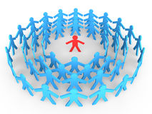 3d stick men  in the crowd Stock Image