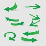 3d sticker arrow set Stock Images