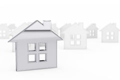 3d Still Abstract House Stock Photography