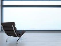 3d stoel bij venster Stock Fotografie