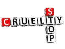 3D Stop Cruelty Crossword Stock Images