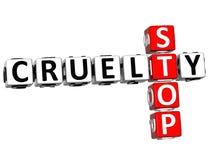 3D Stop Cruelty Crossword Royalty Free Stock Photo