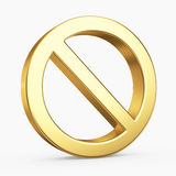 3D Stop symbol Stock Photos