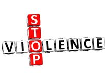 3D Stop Violence Crossword Royalty Free Stock Photography